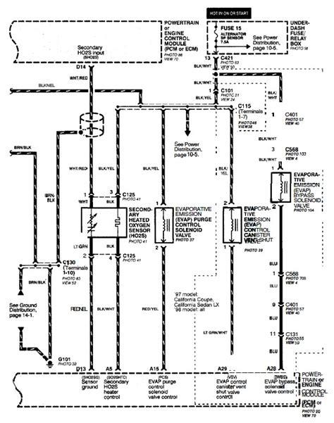 02 Civic Wiring Diagram by Help 96 Honda Civic Dx B16 Second 02 Sensor Wire