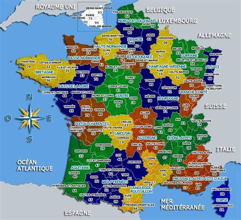 Carte De La Ville Et Departement by Carte De D 233 Partements Villes Et R 233 Gions 187 Vacances