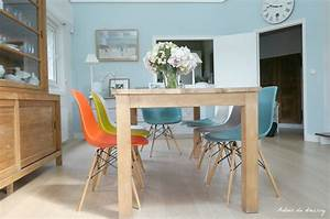 Salon scandinave vintage solutions pour la decoration for Deco cuisine avec chaise couleur