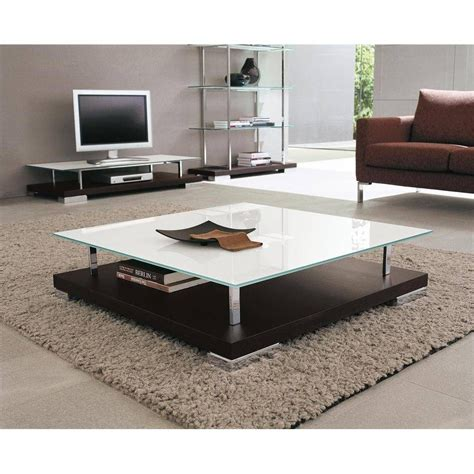 Very modern silver shade, is combined with a square black. 30 Best Collection of Low Glass Coffee Tables