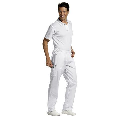 veste cuisine femme manche courte pantalon unisexe taille élastiquée poches latérales