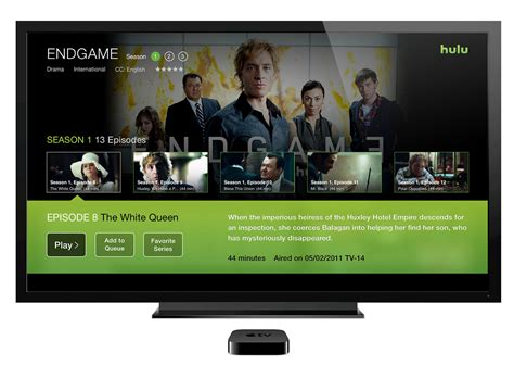 hulu apple tv app redesign  behance