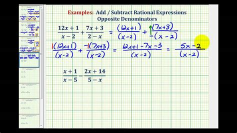 add  subtract rational expressions