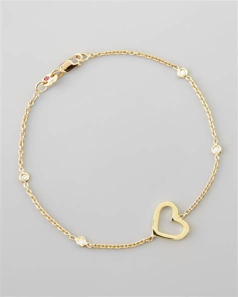 Roberto Coin Yellow Gold Heart Diamond Bracelet In Gold  Lyst. Silver Bangle Bracelets With Stones. Jewelry Beads Wholesale. Low Price Engagement Rings. Layered Gold Chains. Semi Precious Stone Engagement Rings. Skull Wedding Rings. Toddler Ankle Bracelet. Valentine's Day Jewelry Sale