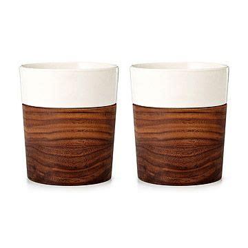 wood  ceramic tumblers set   barware ceramic