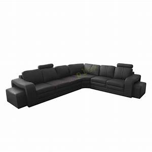 6 seater sectional l shaped black leather sofa majestic for Sectional sofa 6 seater