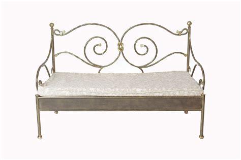 canapé lit en fer forgé banquette fer forge alinea 28 images banquette en fer