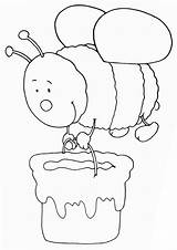 Honey Coloring Pages Honey4 Coloringway sketch template