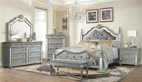 diana poster bedroom set silver global furniture