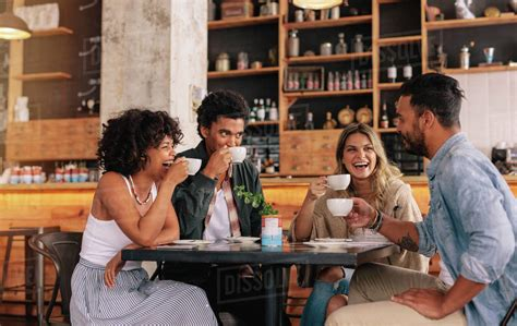 Whether you enjoy a latte, a cappuccino, or simply black coffee, these funny coffee quotes and sayings will have you nodding your read these funny coffee quotes as you reach for another cup. Diverse group of friends enjoying some coffee together in a restaurant and talking. Young people ...