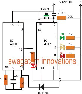 Minutes Timer Circuit With Led Display Indicator