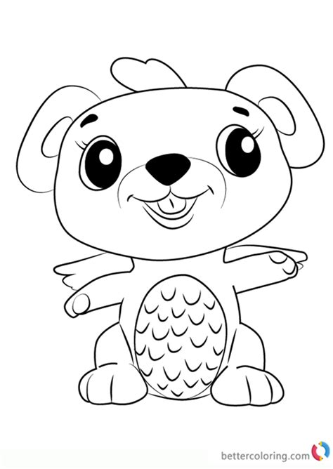 mouseswift  hatchimals coloring pages  printable coloring pages