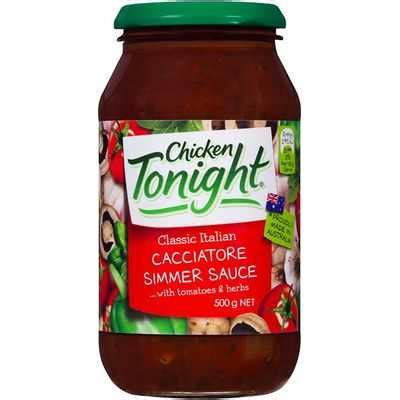 chicken tonight simmer sauce cacciatore ratings mouths