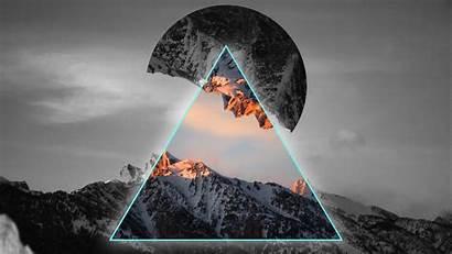 4k Geometric Mountains Wallpapers Neon Ultra 3840