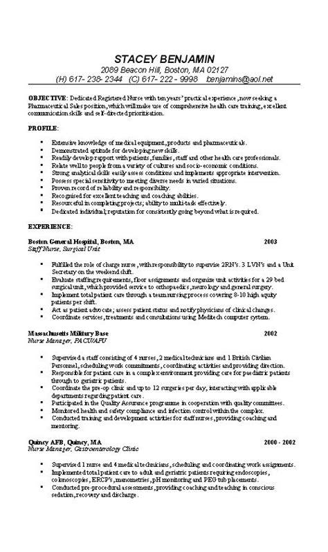 nurse resume  sample graduate school schools