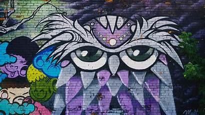 Street Graffiti Wall Wallpapers 4k Background Owl