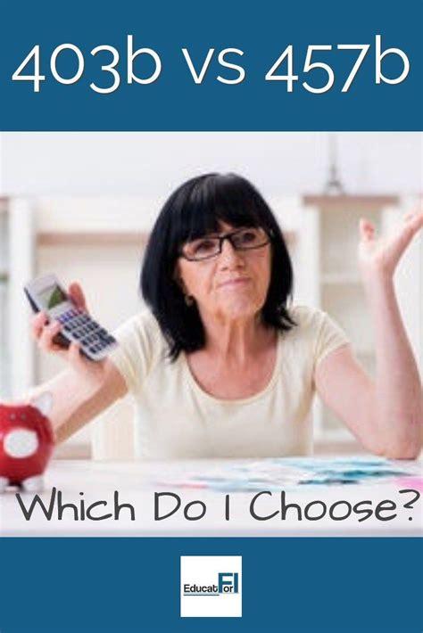 Feb 10, 2021 · options. 403b vs 457b (With Comparison Charts!) | Retirement ...
