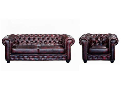 interieur et canapé canapé et fauteuil chesterfield 100 cuir de buffle brenton
