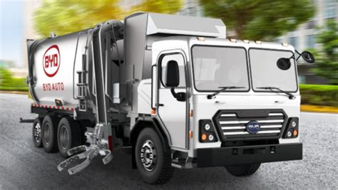 byd delivers st  electric automated side loader