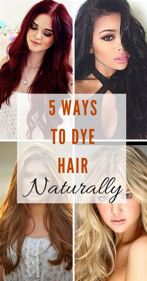Ways To Lighten Hair Without Damaging It by 5 Ways To Dye Hair Naturally Just Your Colour