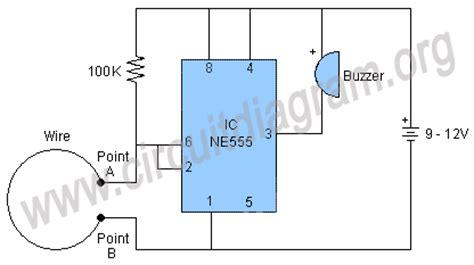 wire break  burglar alarm   circuit diagram