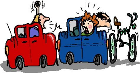 tabrakan kecelakaan mobil gif gambar animasi animasi