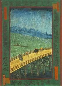 van Gogh Copies Hiroshige - Bridge in the Rain