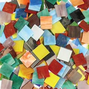 Glass, Mosaic, Tiles, -, Large, -, 1kg, Pack