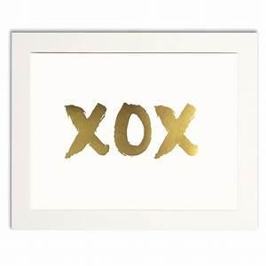 XOX gold print
