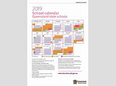 2019 Queensland State School Calendar