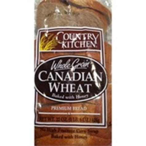 country kitchen calories country kitchen premium enriched bread hearty canadian 2747