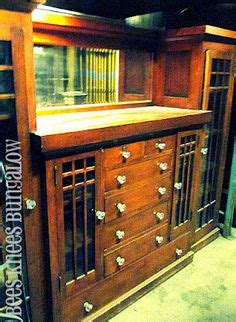 stained kitchen cabinets shop of the crafters five door inlaid china cabinet 6456