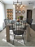 Farm Style Kitchen Chairs by DIY Modern Farmhouse Table As Seen On HGTV Open Concept Shanty 2 Chic