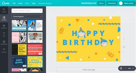 design birthday card  maker