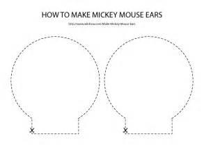 Mickey Mouse Ears Template Printable