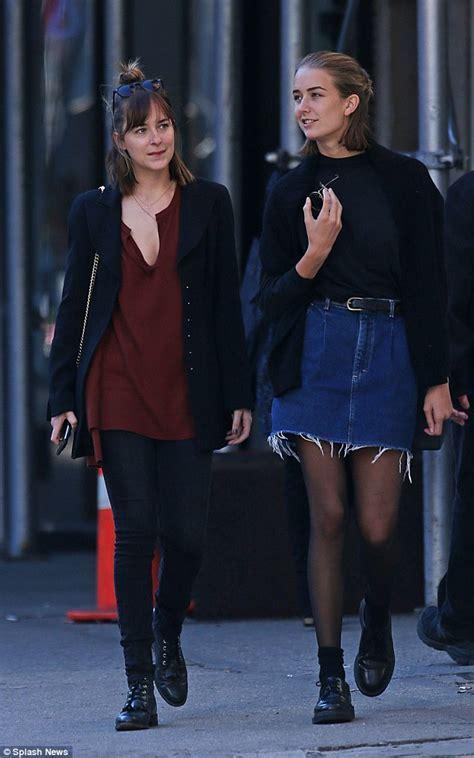 Dakota Johnson bonds with teenage sibling Grace on casual