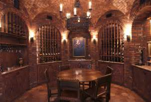 Tuscan Living Room by A Collection Of Lavish Wine Cellars Homes Of The Rich