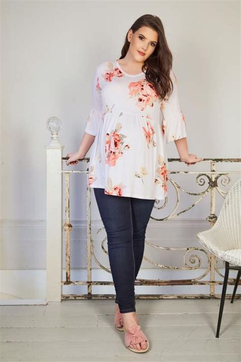 Bump It Up Maternity White And Multi Floral Print Swing Top