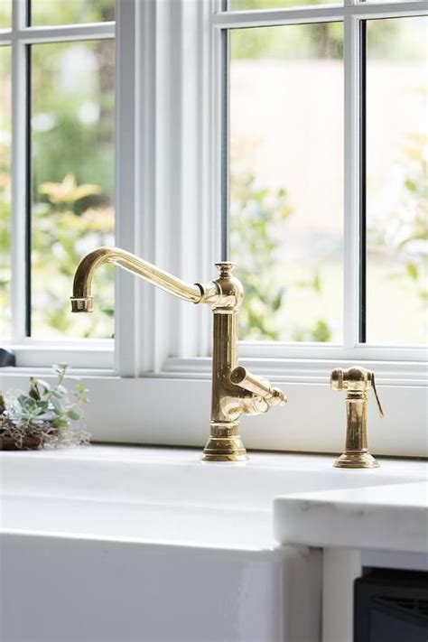 unlacquered brass kitchen faucet full size of faucets