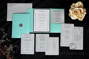 custom pocketfold wedding invitation with inserts from sao With personalised wedding invitations inserts