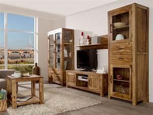 Möbel Dunkles Holz : wohnwand echtholz dunkel ~ Michelbontemps.com Haus und Dekorationen