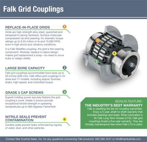 falk grid couplings rexnord steelflex mar dustrial