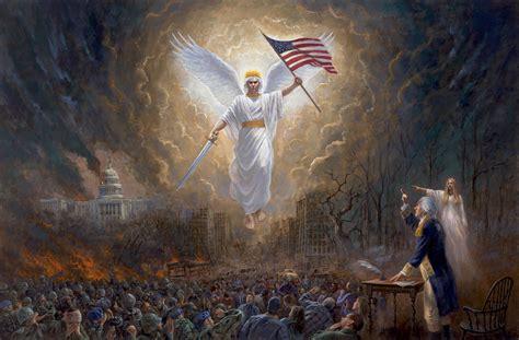 patriotic americana angel  liberty  vision
