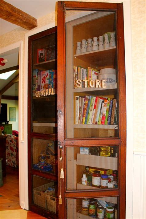 General Store doors used as pantry new   Hooked on Houses