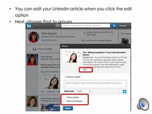 Linked in tips how to share your posts to multiple ...