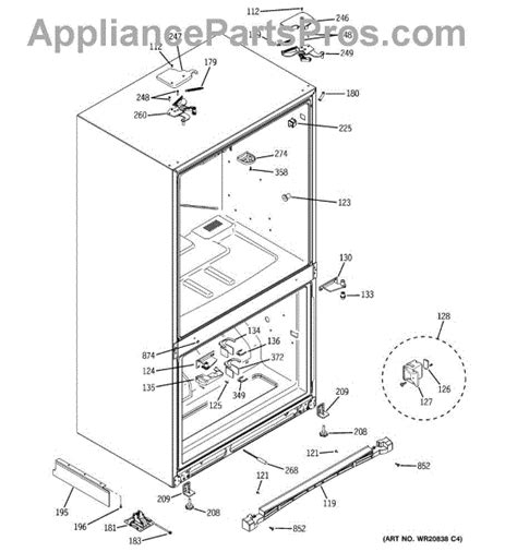 parts  ge cfsprkbcss case parts appliancepartsproscom