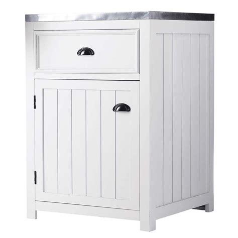 meuble cuisine 60 cm meuble bas de cuisine ouverture droite en pin blanc l 60