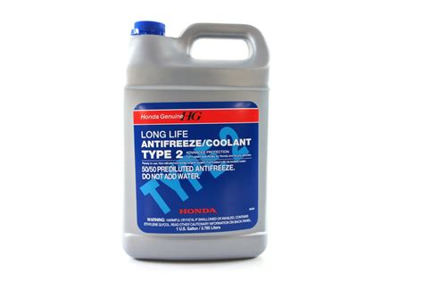 Genuine Honda Parts Blue Type 2 Coolant