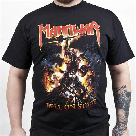 manowar quot hell on stage quot t shirt indiemerchstore