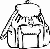 Coloring Backpack Pages Clipart Supplies Printable Clipartmag Backpacks Coloringpages101 Things Getcoloringpages sketch template